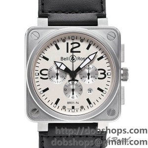 BELL&ROSS ベル&ロス 時計 BR01-94 クロノグラフ【BR01-94W-CA】 BR01-94 Chronograph【BR01-94W-CA】