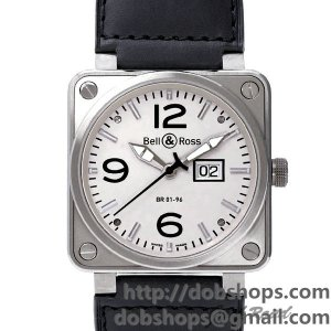 BELL&ROSS ベル&ロス 時計 BR01-96 メーターデイト【BR01-96W-CA】 BR01-96 Big Date【BR01-96W-CA】