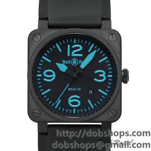 BELL&ROSS ベル&ロス 時計 BR03-92 ブルー【BR03-92BLUE-R】 BR03-92 Blue【BR03-92BLUE-R】
