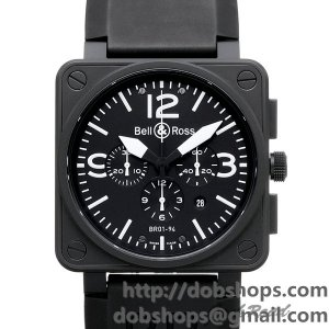 BELL&ROSS ベル&ロス 時計 BR01-94 カーボン クロノグラフ【BR01-94CFB-CA】 BR01-94 Carbon Chronograph【BR01-94CFB-CA】
