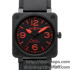 BELL&ROSS ベル&ロス 時計 BR01-92 レッド【BR01-92 RED-R】 BR01-92 Red【BR01-92 RED-R】