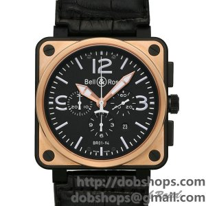 BELL&ROSS ベル&ロス 時計 BR01-94 クロノグラフ ピンクゴールド カーボン【BR01-94PGC-AL】 BR01-94 Chreonograph Pink Gold & Carbon【BR01-94PGC-AL】